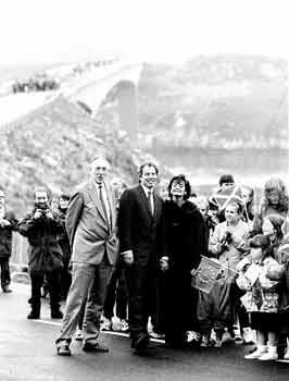 Tony and Cherie Blair and Donald Dewar