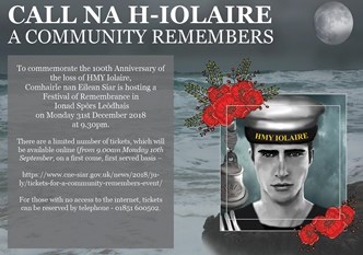 A Community Remembers - Iolaire Poster