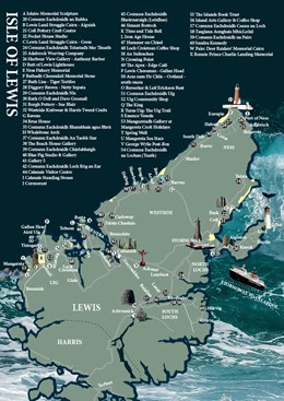 Made in the Outer Hebrides Guide :  Lewis Map