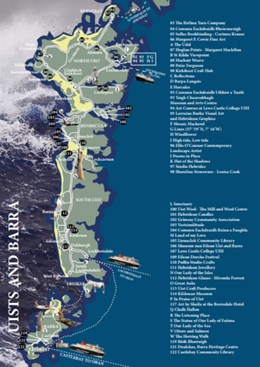 Made in the Outer Hebrides Guide :  UIST MAP