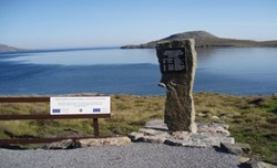 "Vatersay memorial to the fatal 1944 ""Catalina"" plane crash"
