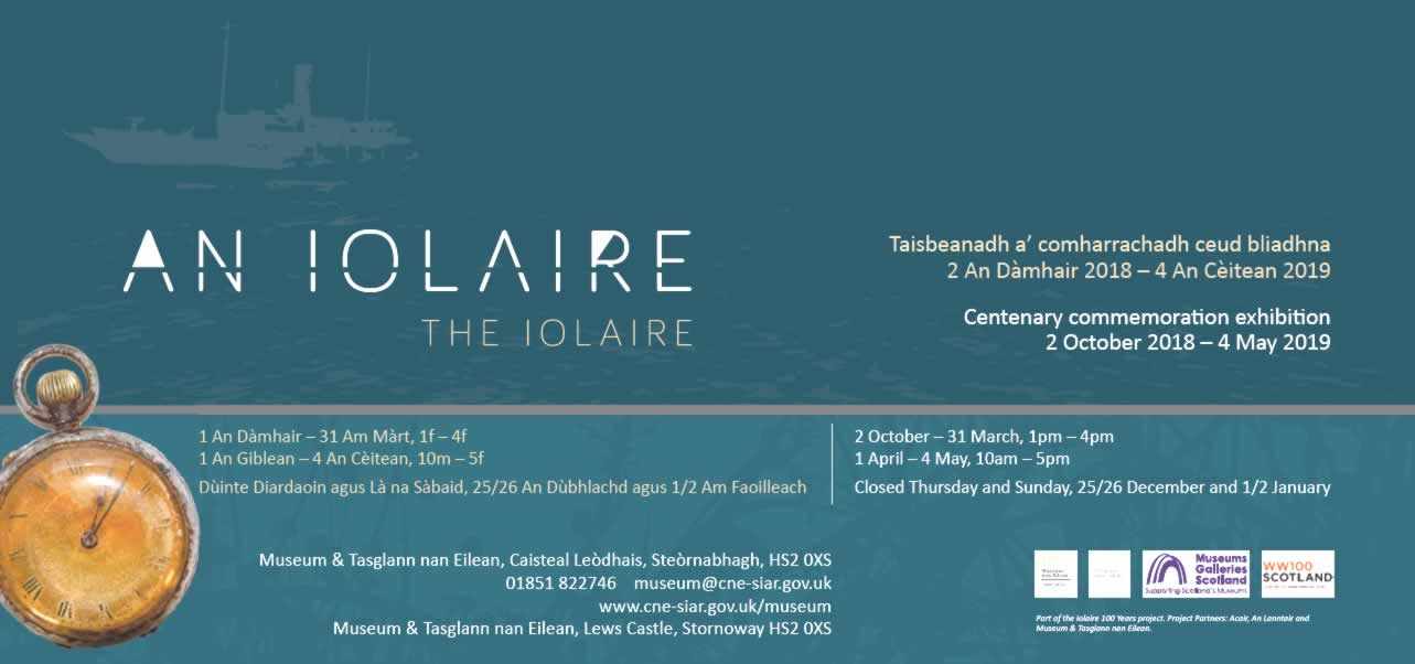 Iolaire Commemoration Exhibition 2 October 2018 – 4 May 2019